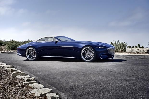 elektro-cabriolet: vision mercedes-maybach 6 mit 500 km reichweite