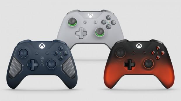 Die drei neuen Versionen des Xbox-One-Controllers. (Bild: Microsoft)