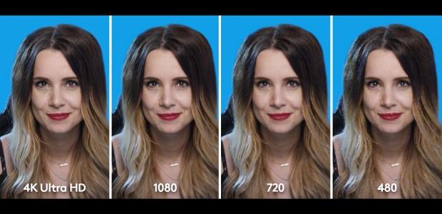 Auflösungen im direkten Vergleich (Bild: Logitech)