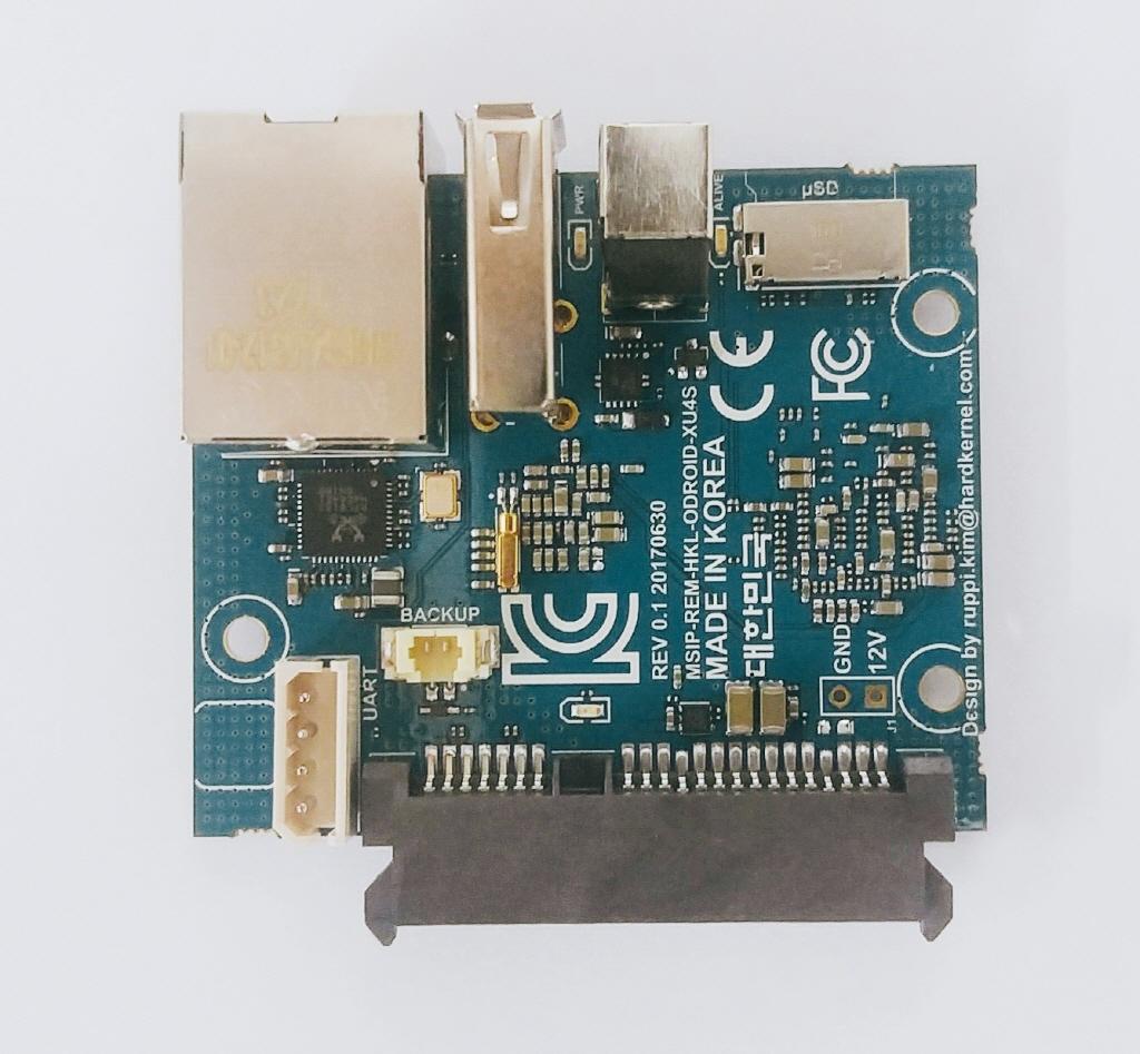 Odroid HC-1: Bastelrechner besser stapeln im NAS - Odroid HC1 Front (Bild: Hardkernel)