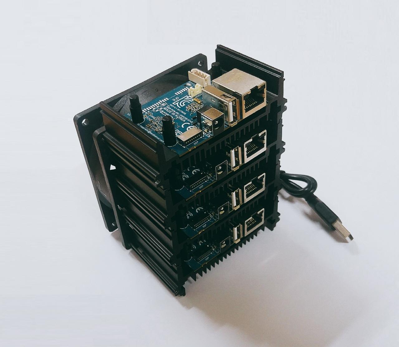 Odroid HC-1: Bastelrechner besser stapeln im NAS - Odroid MC1 (Bild: Hardkernel)