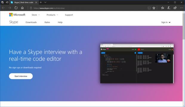 Die Funktion ist momentan nur im Browser verfügbar. (Bild: Microsoft)