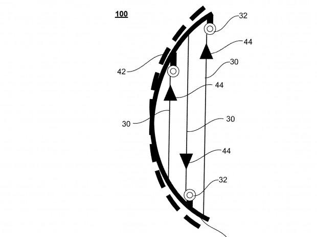 Fußgängerschutz durch aktiv verformbare Karosserieelemente (Bild: US-Patent- und Markenamt)
