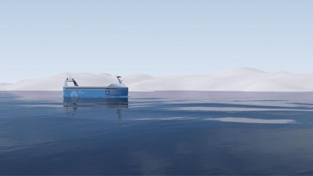 Das Schiff soll ab 2020 autonom in norwegischen Küstengewässern unterwegs sein,. (Bild: Kongsberg)