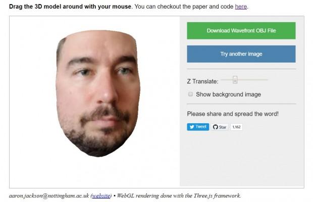 Ein mit dem neuen Algorithmus aus einem Foto erstelltes 3D-Modell (Screenshot: Golem.de)