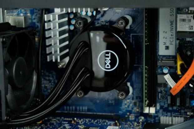 Beim CPU-Lüfter bietet Dell eine angemessene Kühlung.