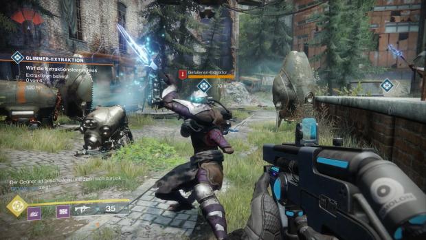 """Der """"gefallene Extraktor"""" ist ein nur minimal stärkerer Gegner. (Screenshot: Golem.de / Bild: Activision)"""