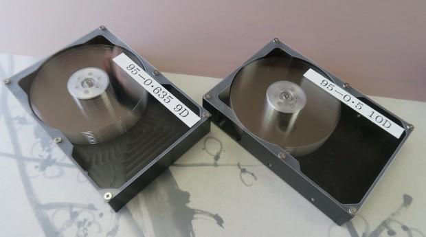 HDD-Prototypen mit Glasplattern (Foto: Hoya)