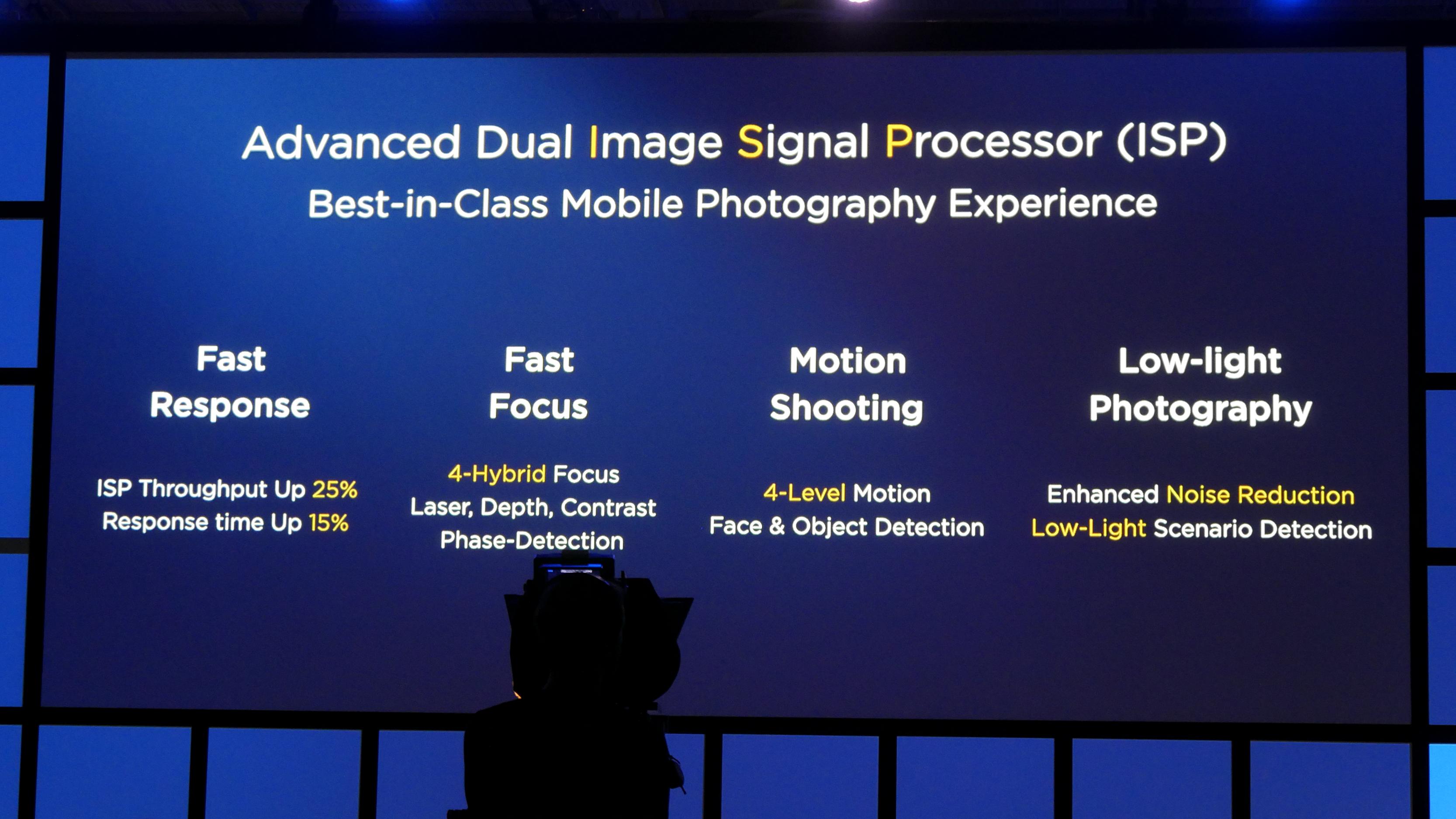Kirin 970: Huawei-Chip hat AI-Hardware und schnellstes LTE - Der Dual-ISP wurde verbessert. (Foto: Marc Sauter/Golem.de)