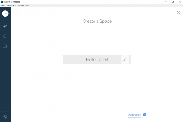 Jeder Nutzer kann eigene Spaces erstellen. (Screenshot: Golem.de)