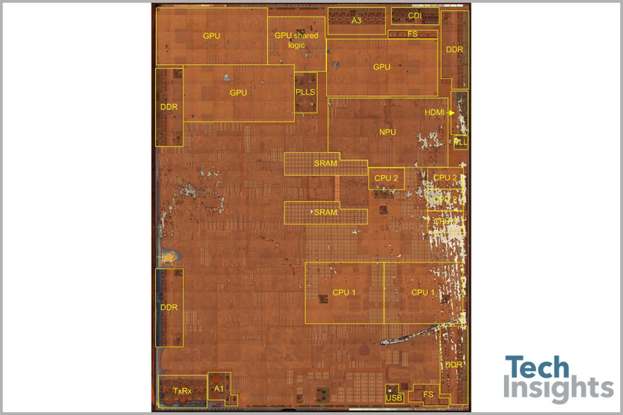Fertigungstechnik: Das Nanometer-Marketing - Apples A11 Bionic (Bild: Tech Insights)