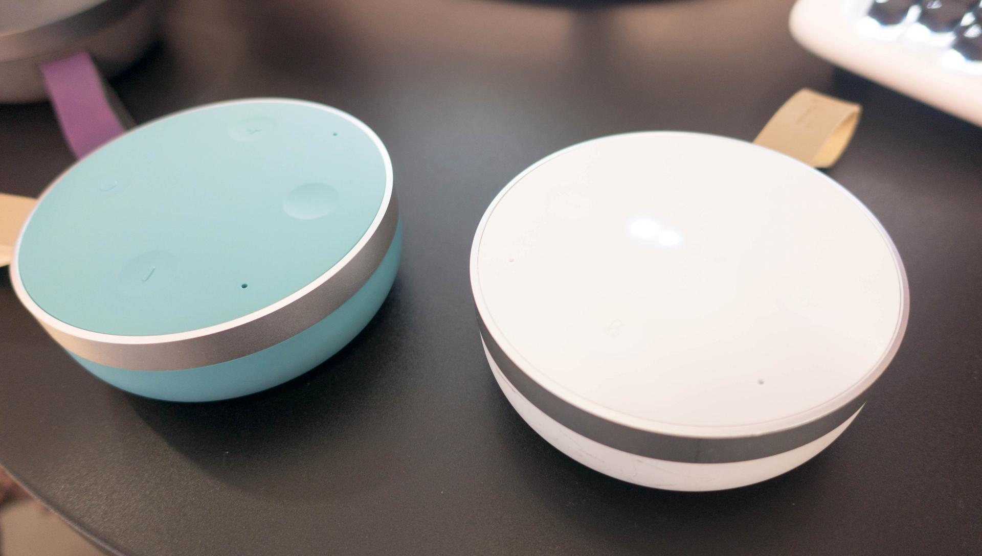Alexa und Google Assistant: Der Wettkampf smarter Lautsprecher verändert sich - Tichome Mini (Bild: Ingo Pakalski/Golem.de)