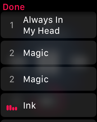 WatchOS 4.0 im Test: Apples praktische Taschenlampe mit autarkem Musikplayer - Die Musik-App ist noch etwas buggy ... (Screenshot: Golem.de)