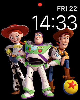 WatchOS 4.0 im Test: Apples praktische Taschenlampe mit autarkem Musikplayer - Wirklich niedlich: Toy Story auf der Apple Watch (Screenshot: Golem.de)