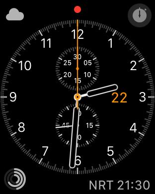 Eines der alten Zifferblätter unter WatchOS 4.0. Auffällige Änderungen gibt es erst woanders. (Screenshot: Golem.de)