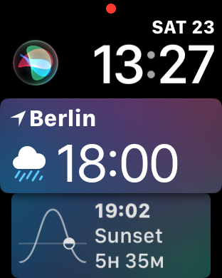 Das Siri-Watchface ist sehr dynamisch. (Screenshot: Golem.de)