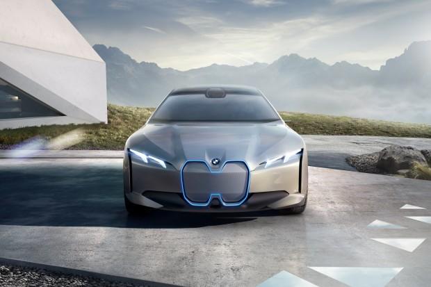 Der Kühlergrill des i Vision Dynamcis hat nur noch wenig mit dem klassischen BMW-Design gemein. (Foto: BMW)