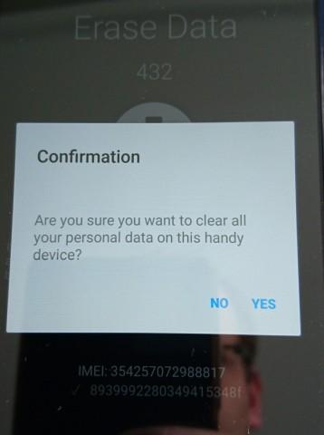 Auch für die Entfernung der persönlichen Daten sind die Kunden selbst verantwortlich. (Bild: Hauke Gierow, Golem.de)