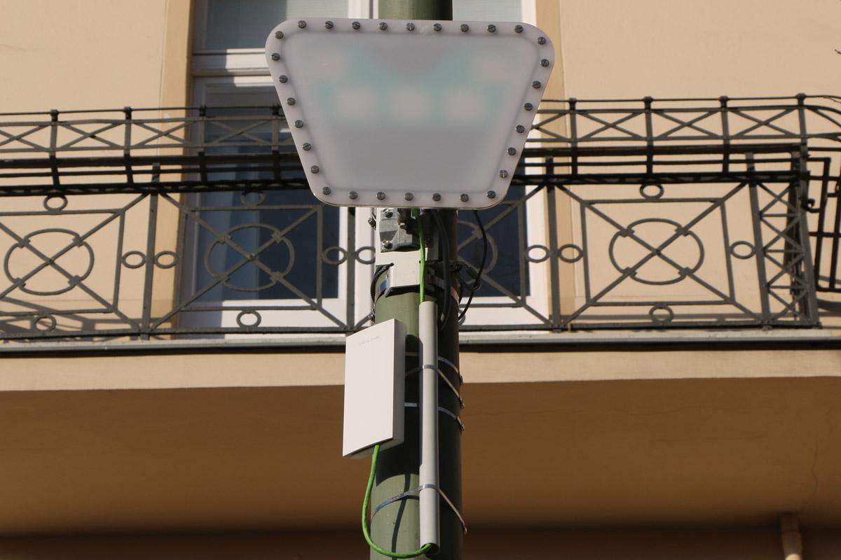 Parkplatz-Erkennung: Bosch und Siemens scheitern mit Pilotprojekten - Der Radarsensor von Siemens wird in verbesserter Version weiter getestet. (Foto: Friedhelm Greis/Golem.de)