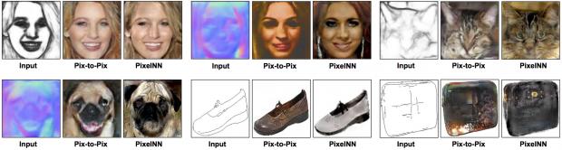 PixelNN vergleicht sich mit Pix-to-Pix. (Bild: cs.cmu.edu/~aayushb)