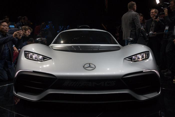 Der Hybrid-Supersportwagen Project One von Mercedes AMG (Foto: Werner Pluta/Golem.de)