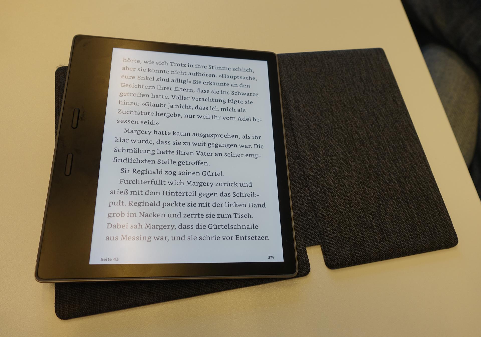 Neuer Kindle Oasis im Hands on: Amazons großer E-Book-Reader ist wasserdicht -
