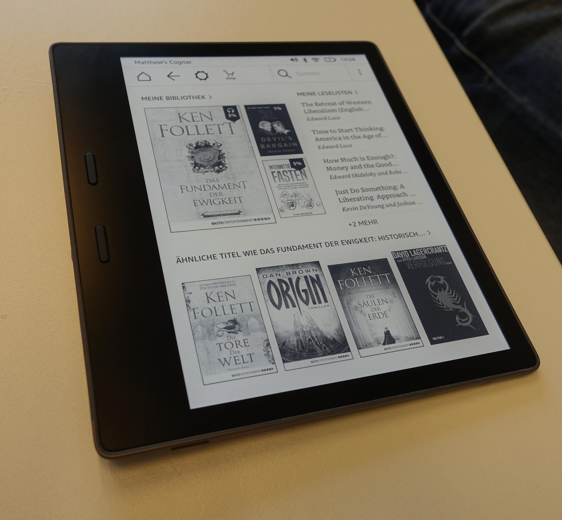 Neuer Kindle Oasis im Hands on: Amazons großer E-Book-Reader ist wasserdicht - Neuer Kindle Oasis (Bild: Ingo Pakalski/Golem.de)