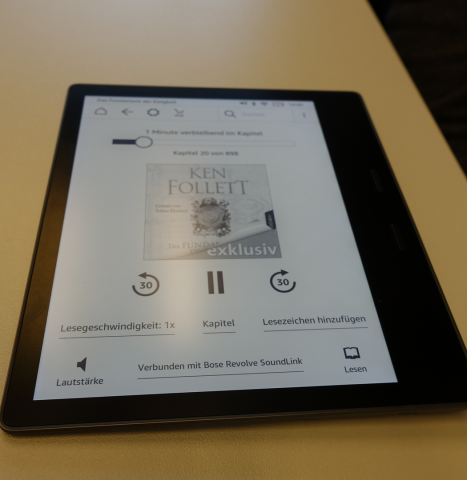 Der neue Kindle Oasis hat eine Audible-Integration (Bild: Ingo Pakalski/Golem.de)