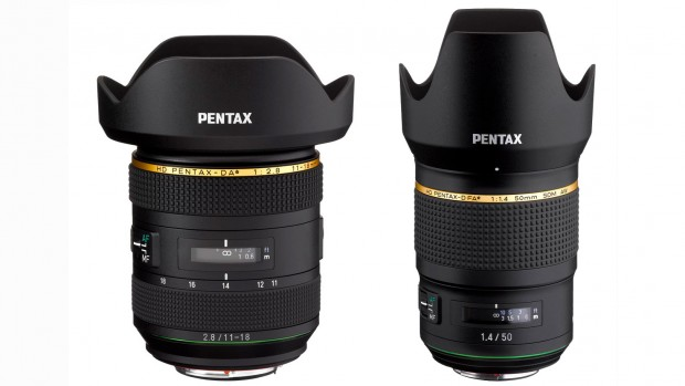 HD Pentax-DA 11-18mm F2.8 und HD Pentax-D FA 50mm F1.4 SDM AW (Bild: Pentax)