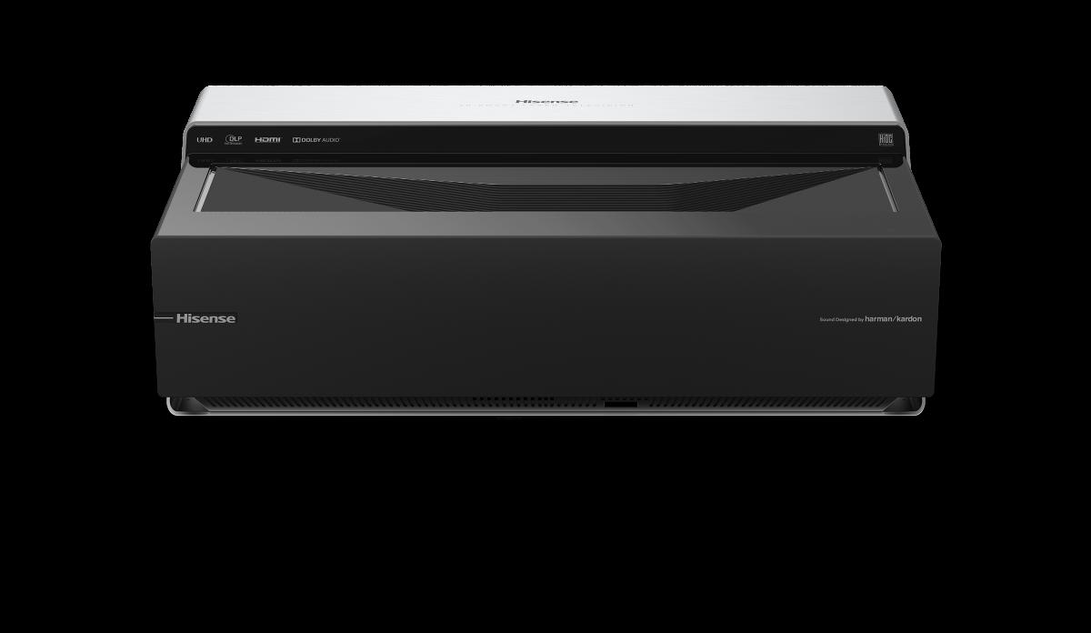 Hisense 100L8D: Laserprojektor wird zum 100-Zoll-Heimkino mit Lautsprechern - Der Projektor hat zwei integrierte Lautsprecher. (Bild: Hisense)