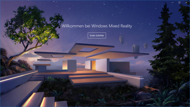 Der WMR-Startbildschirm (Screenshot: Golem.de)