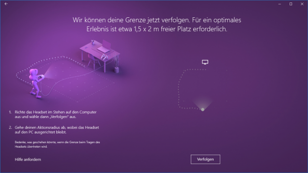 Windows Mixed Reality ist super schnell eingerichtet. (Screenshot: Golem.de)