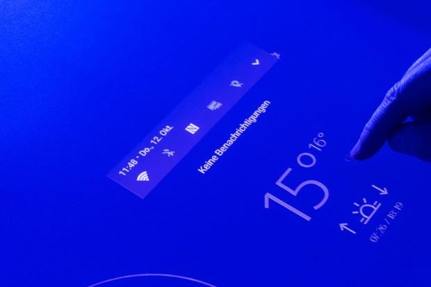 Xperia Touch lässt sich wie ein normales Android-Gerät bedienen. (Bild: Martin Wolf/Golem.de)