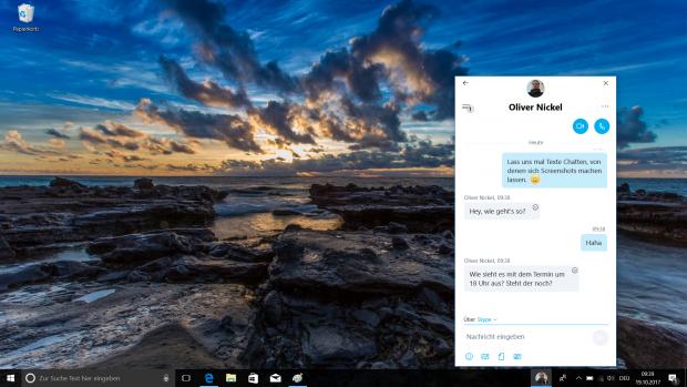 Kontakte können einfach über die Taskleiste aufgerufen werden.  (Screenshot: Golem.de)