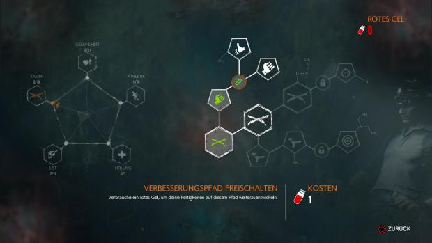 Nach und nach erweitern wir unsere Skills im Talentbaum. (Screenshot: Golem.de / Bild: Bethesda)