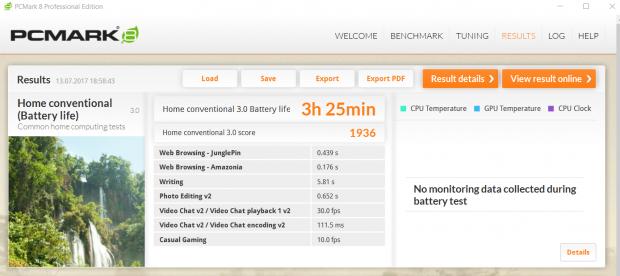 Für ein Gaming-Notebook hält das ST-Plus lange durch. (Screenshot: Oliver Nickel/Golem.de)