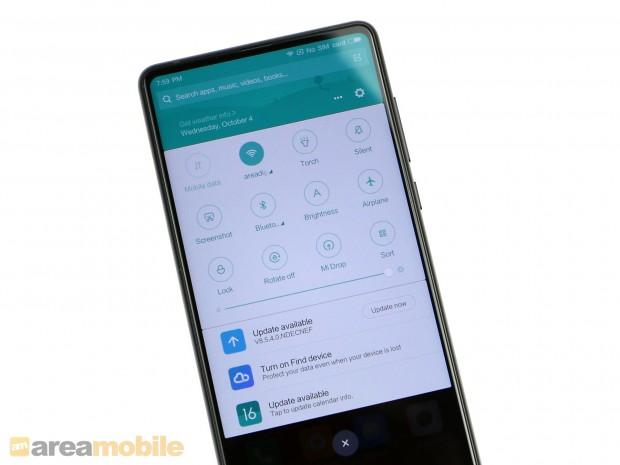 Das Mi Mix 2 kommt mit Android 7.1.1 und einer eigenen Benutzeroberfläche. (Bild: Areamobile)