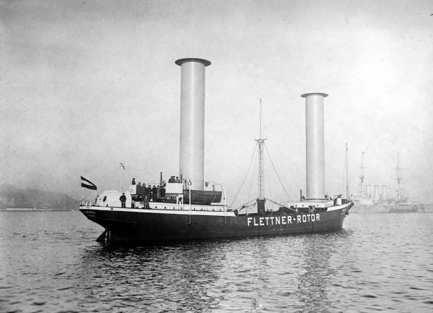 Als erstes Schiff bekam die Buckau 1924 Flettner-Rotoren. Zu der Zeit war der Antrieb jedoch nicht konkurrenzfähig. (Foto: Library Of Congress)