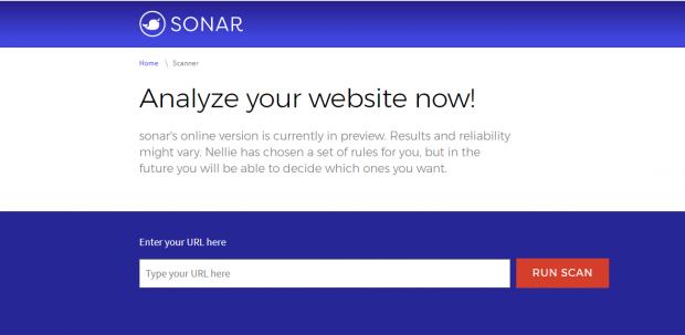 Es lassen sich beliebige URLs prüfen. (Bild: Sonar)
