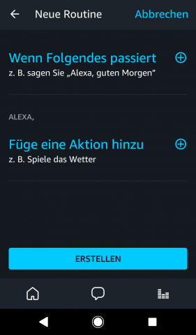 In der Alexa-App lassen sich Routinen anlegen. (Screenshot: Golem.de/Amazon)