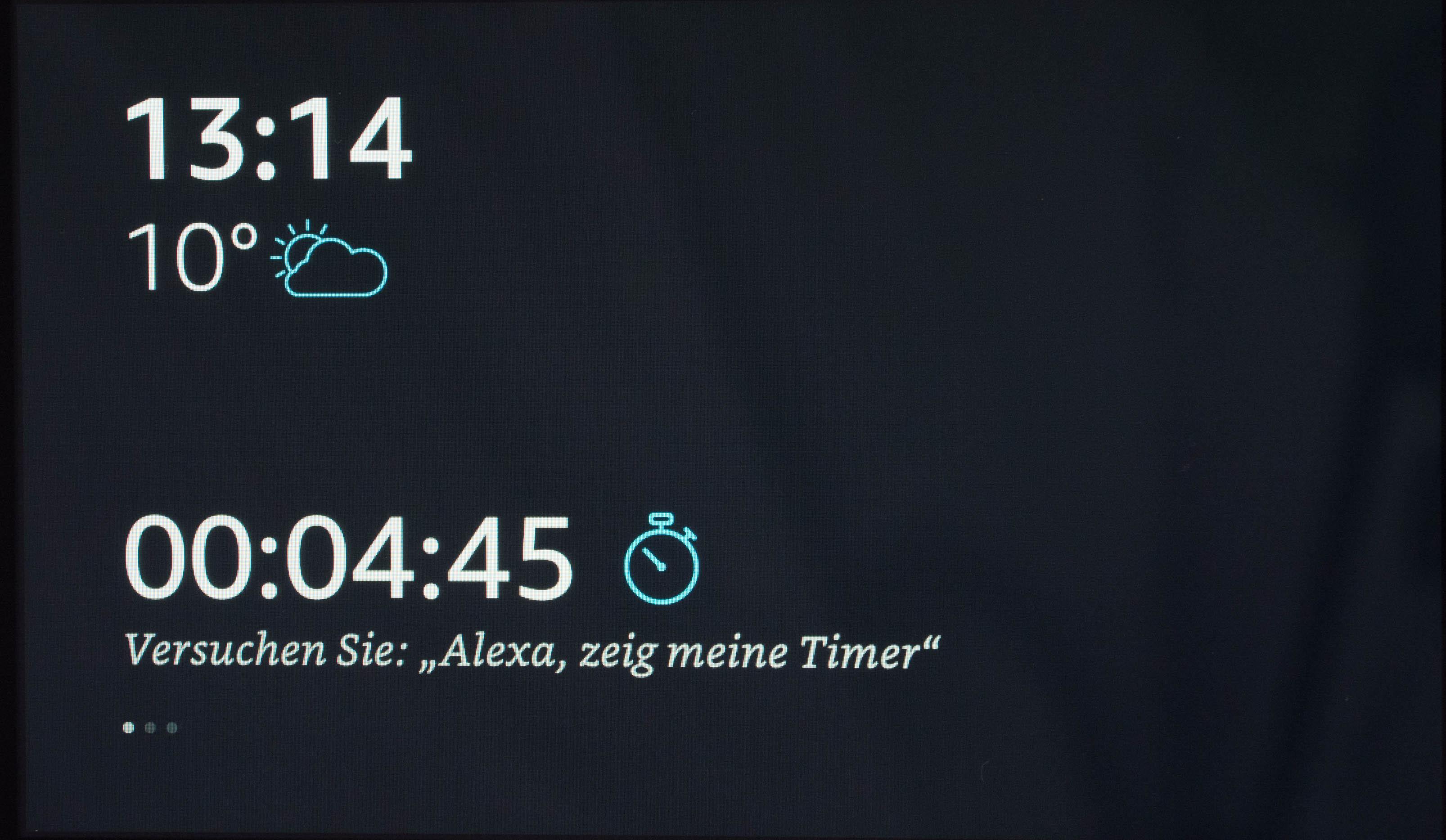 Echo Show vs. Fire HD 10 im Test: Alexa, zeig's mir! - Der Timer erscheint auf dem Startbildschirm. (Bild: Martin Wolf/Golem.de)