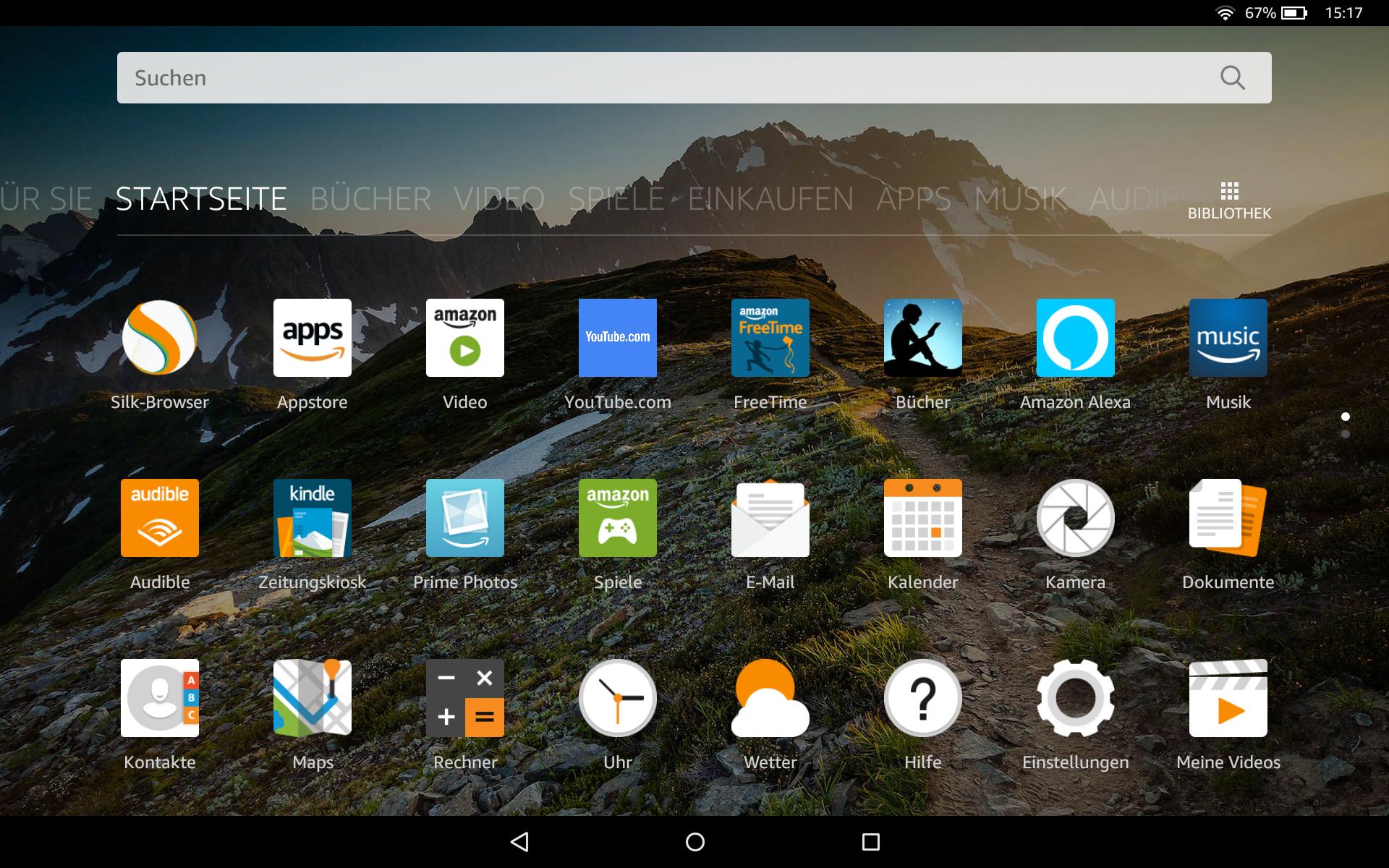 Echo Show vs. Fire HD 10 im Test: Alexa, zeig's mir! - Auf dem Fire HD 10 laufen normale Android-Apps. (Bild: Ingo Pakalski/Golem.de)