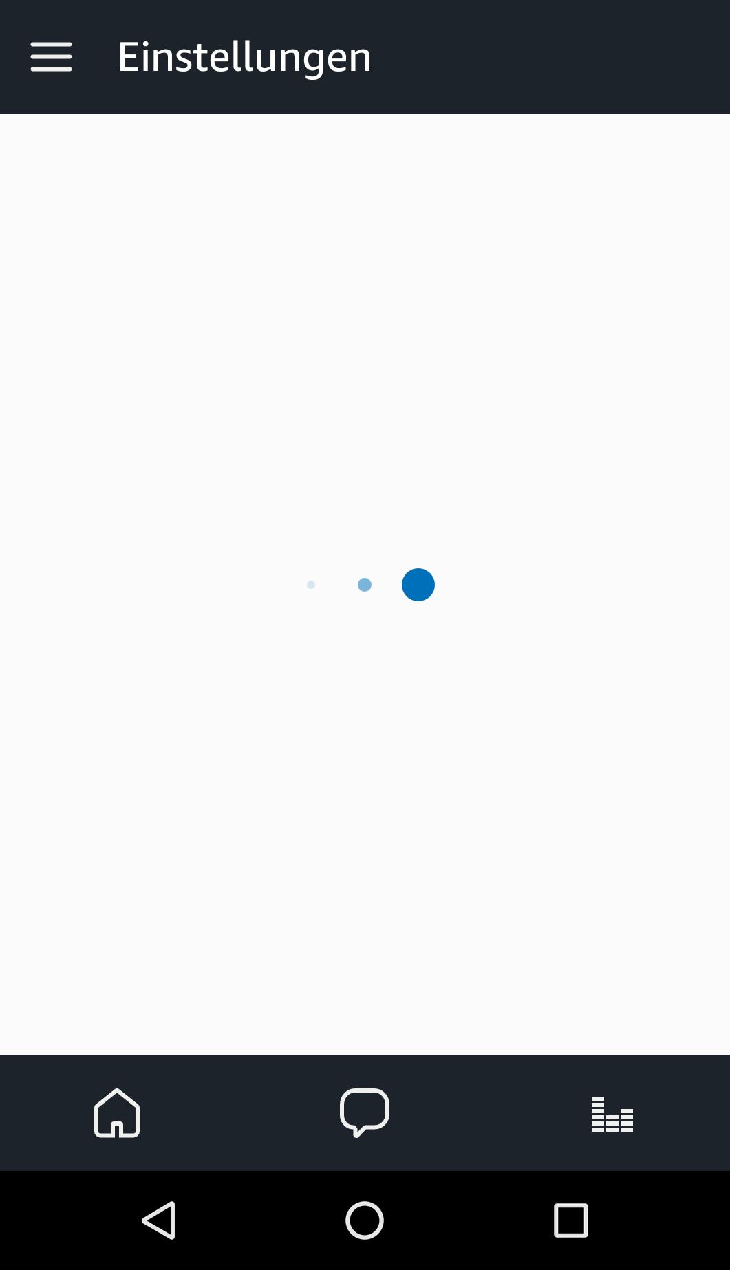 Echo Show vs. Fire HD 10 im Test: Alexa, zeig's mir! - Das dauert jetzt 14 Sekunden, bis die Alexa-App die Einstellungen anzeigt. (Bild: Ingo Pakalski/Golem.de)