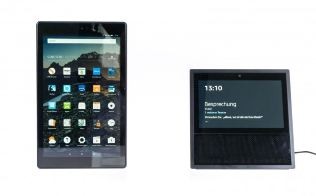 Links Fire HD 10, rechts Echo Show (Bild: Martin Wolf/Golem.de)