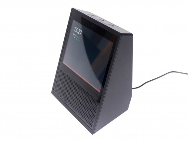 Wenn Echo Show stumm geschaltet ist, leuchtet eine rote LED am Gerät. (Bild: Martin Wolf/Golem.de)