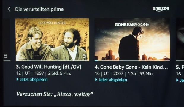 Auf dem Echo Show zeigt Amazon Video keine Prime-Banderolen. (Bild: Martin Wolf/Golem.de)