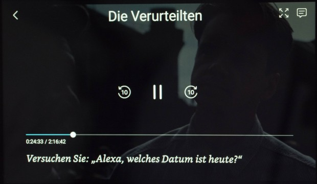 X-Ray-Informationen fehlen bei Amazon Video auf dem Echo Show. (Bild: Martin Wolf/Golem.de)