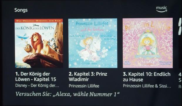 Durch Inhalte von Amazon Music kann geblättert werden. (Bild: Martin Wolf/Golem.de)