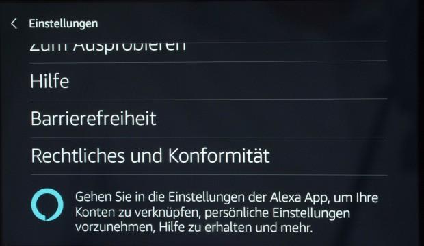 Aber nicht alle Alexa-Einstellungen können auf dem Echo Show verändert werden. (Bild: Martin Wolf/Golem.de)