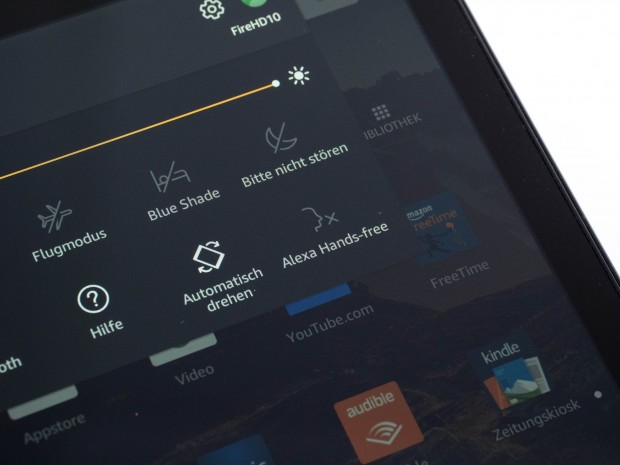 Über die Schnelleinstellungen kann die Alexa-Funktion an- oder ausgeschaltet werden. (Bild: Martin Wolf/Golem.de)